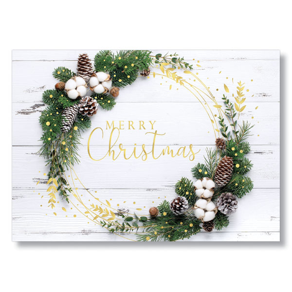 Rustic Wreath Holiday Card