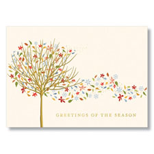 Picture of Tree of Seasons Holiday Card