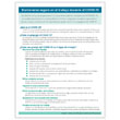Picture of Spanish Downloadable COVID-19 Prevention and Stress Management Handout