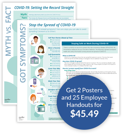 Get 2 Posters and 25 Employee Handouts for $45.49