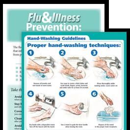 Flu & Illness Preventation Posters