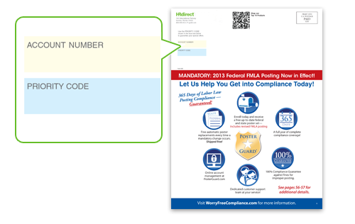 If you have a catalog, you can locate your Priority Code based the diagram below.