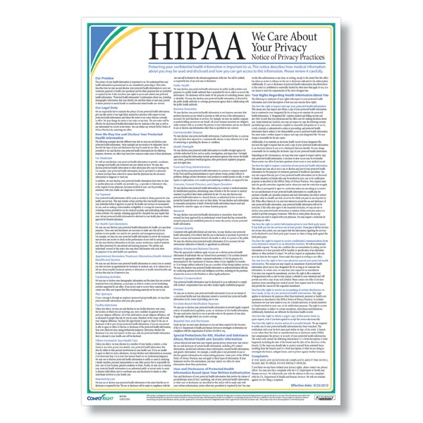 hipaa notice of privacy practices poster