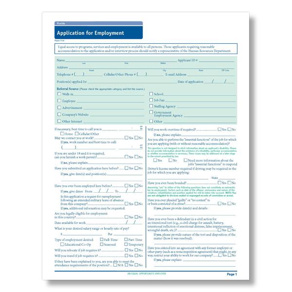 florida state compliant job application
