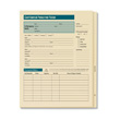 Personnel folders keep quick information on the outside and Confidential records on the inside