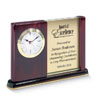 Reward dedicated employees for their time with a personalized desk clock