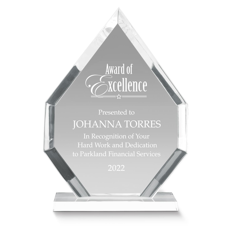 Diamante Acrylic Award | Employee Desktop Award
