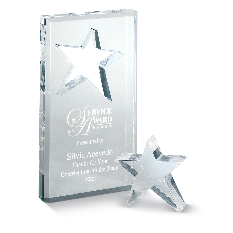 star acrylic award for employees acrylic employee award