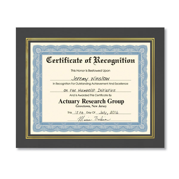 Award Certificate Frames For Employee Award Certificates