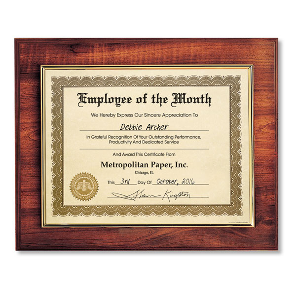InsertAward® Plaques for Award Certificates