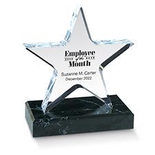 Lucite Acrylic Star Award