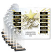Celebrate your company's stars every month with this elegant perpetual plaque
