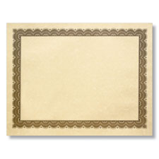 Blank Aged Parchment Award Certificates