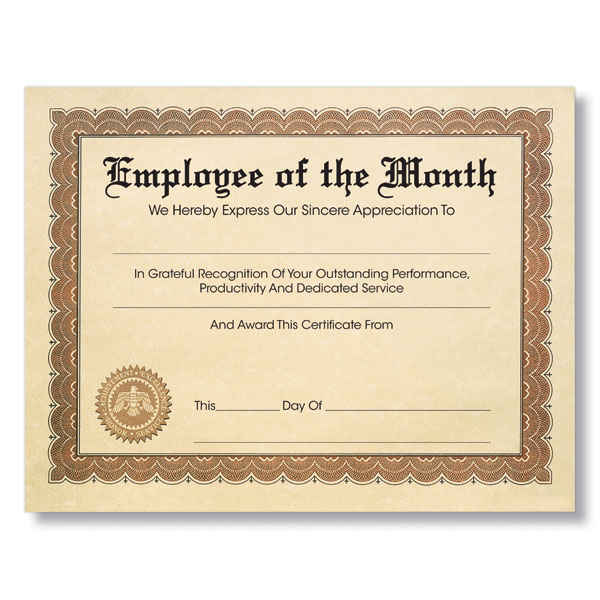 Personalized parchment award certificates with seal yadclub Choice Image