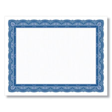 Blank Navy and White Award Certificates