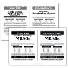 Santa Monica, California Minimum Wage & Paid Leave Poster Bundle