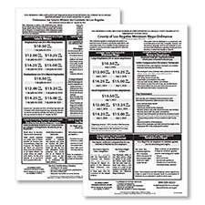 Unincorporated Los Angeles County, CA Min Wage Poster Bundle