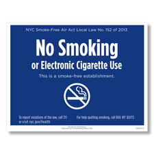 Get in compliance with the latest New York City smoking laws with PosterTracker's No Smoking poster for local employers.