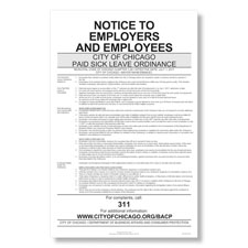 Chicago Paid Sick Leave Poster