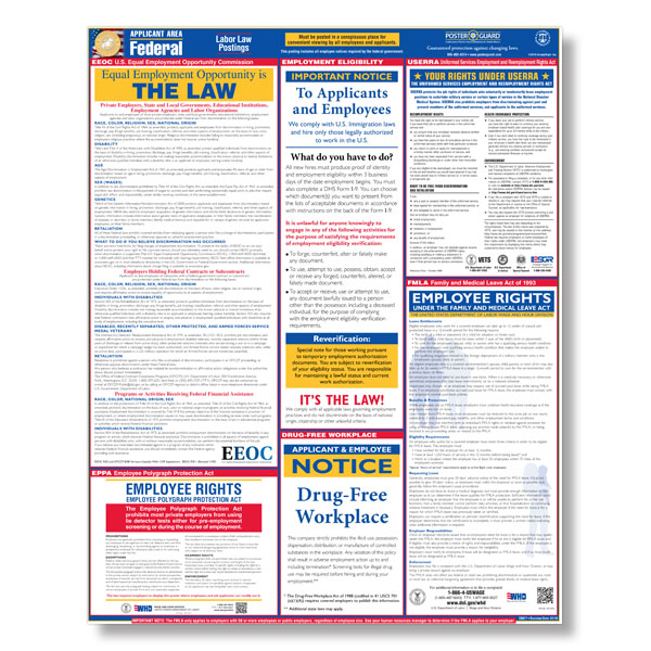 Workplace Posters For City, State And Federal Labor Law