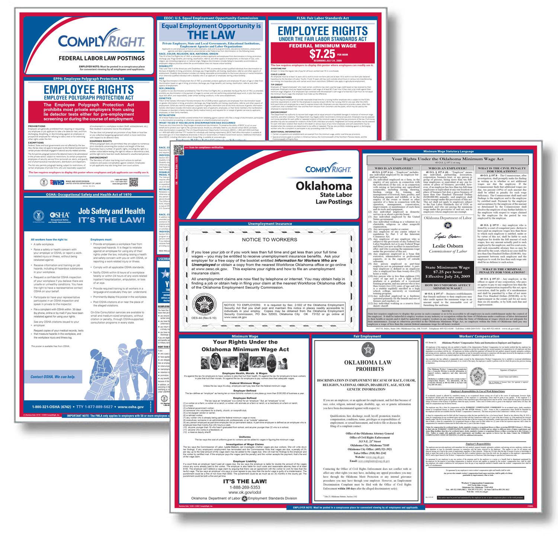 Oklahoma & federal labor law notices