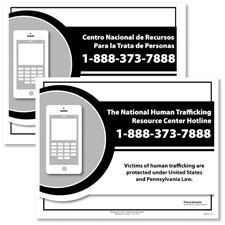 Pennsylvania Human Trafficking Poster Bilingual