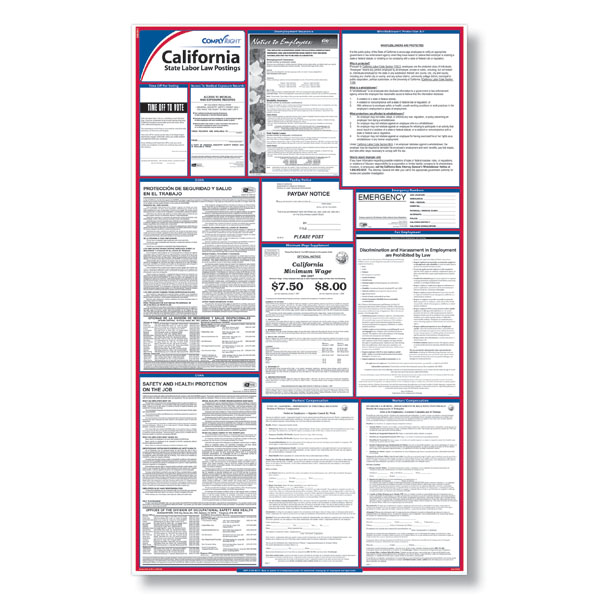 Comply With Ca Employment Laws With Our California Labor Law Posters