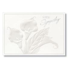 With Sympathy Flowers Sympathy Card