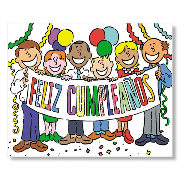 Spanish Birthday Group Cards