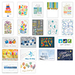 Keep up company cheer for a calendar year full of birthdays with this colorful assortment of foil business birthday cards.