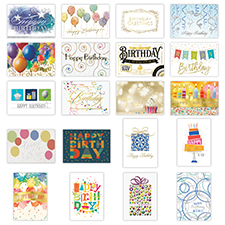 Deluxe Foil Birthday Card Assortment