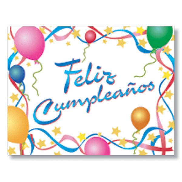 Happy Birthday Feliz Cumpleanos Spanish Card