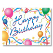 Happy Birthday Stars And Streamers - Business Birthday Card