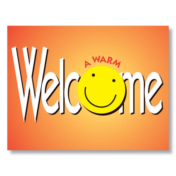 A warm smile and a warm welcome with hrdirect welcome cards a warm smile welcome card m4hsunfo