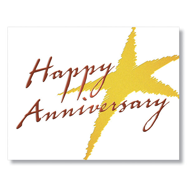 Gold star anniversary cards business
