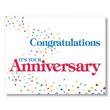 Congratulations Confetti Anniversary Cards