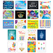 Show how much you value your employees with this festive assortment of business birthday card.