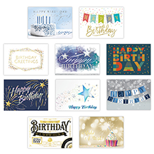Personalized Birthday Celebration Card Assortment