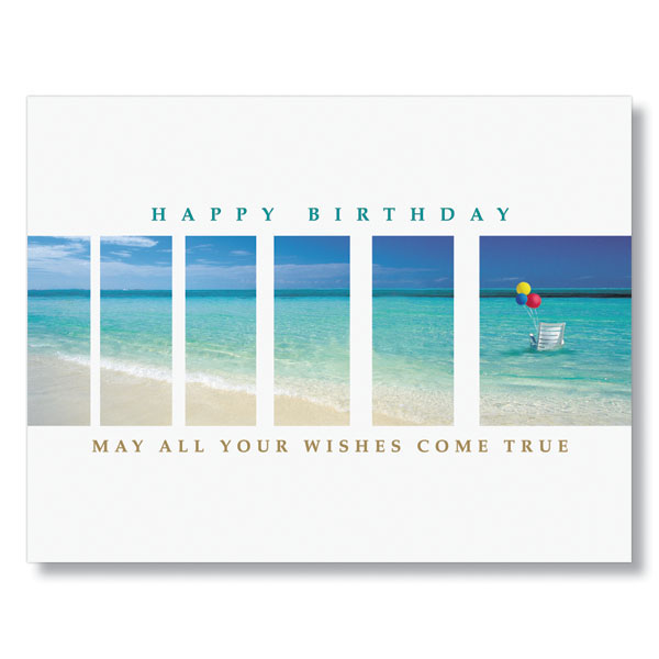 Tropical Birthday Wishes Card For Employees