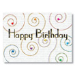 Starry Swirls Happy Birthday Cards