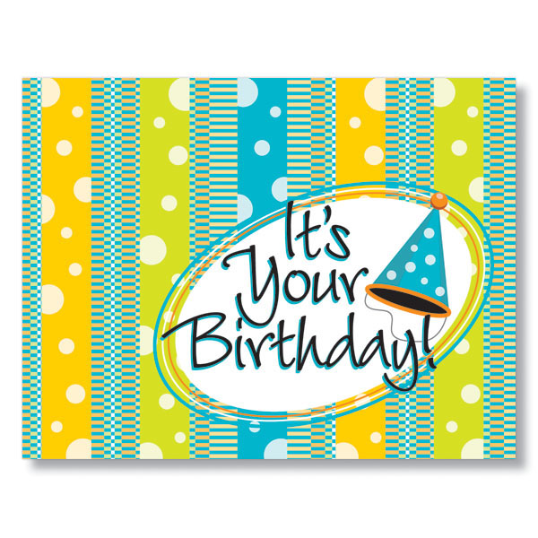 Birthday Bubbles Employee Cards