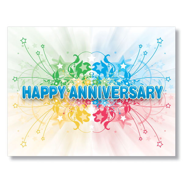 work anniversary certificate templates - starburst anniversary cards for employees