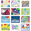 Send festive birthday greetings on behalf of your company with this bright assortment of business birthday cards.