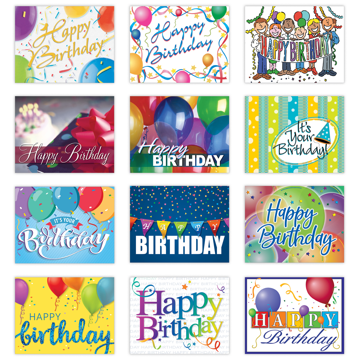 Personalized Celebrations Happy Birthday Card Assortment