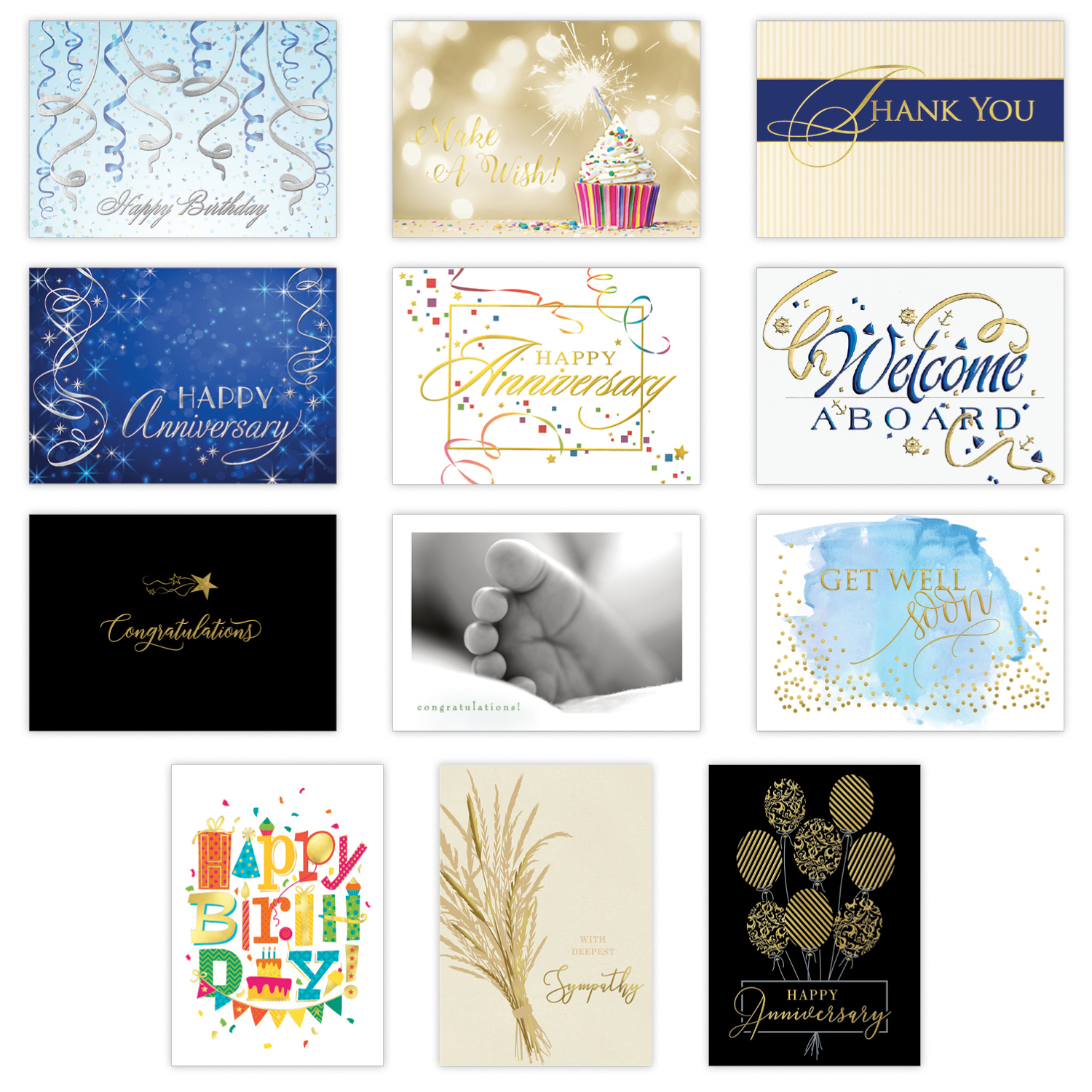 Elegant employee all occasion card assortment bulk business all occasion card assortment m4hsunfo