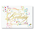 Confetti and Streamers Birthday Card
