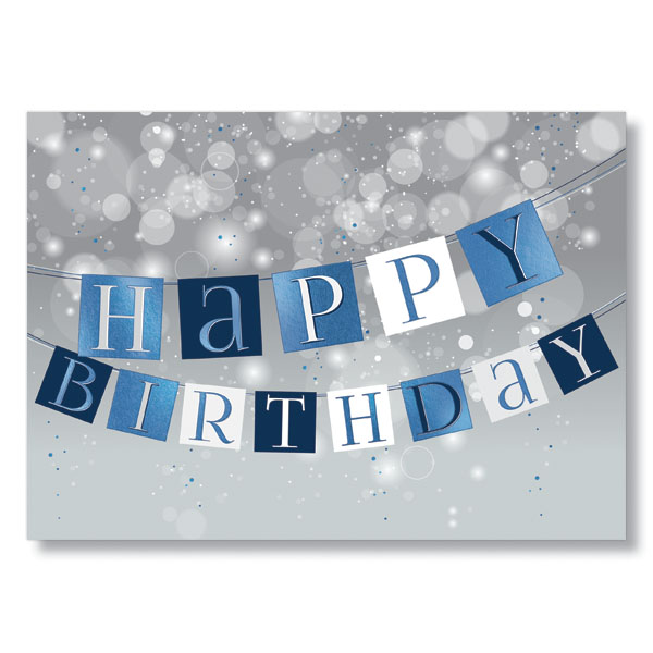 Check Out This New Happy Birthday Banners Postcard Design
