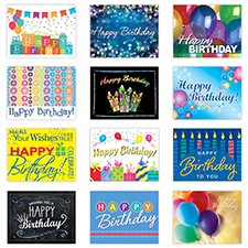 Personalized Variety Birthday Card Assortment