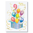 Bursting Balloons Birthday Cards