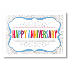 These colorful work anniversary cards share your sentiments clearly.